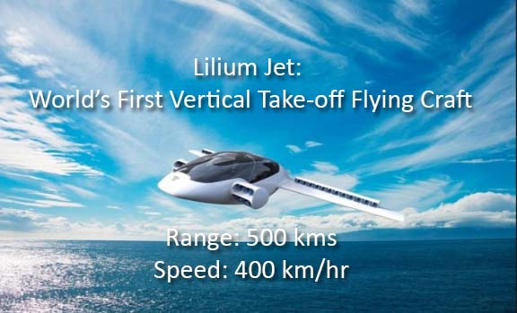 Lilium jet flying car news