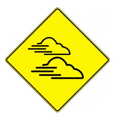 cloudy weather low visibility flying cartraffic