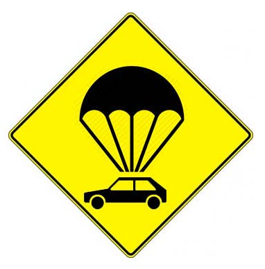 emergency car parachute flying car
