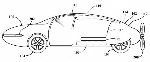 Toyota Patent Flying Car Concept