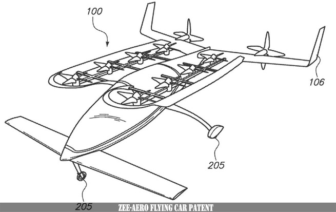 Zee-Aero Flying Car Patent